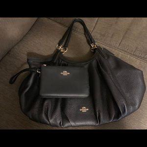 Coach purse and zip around wristlet
